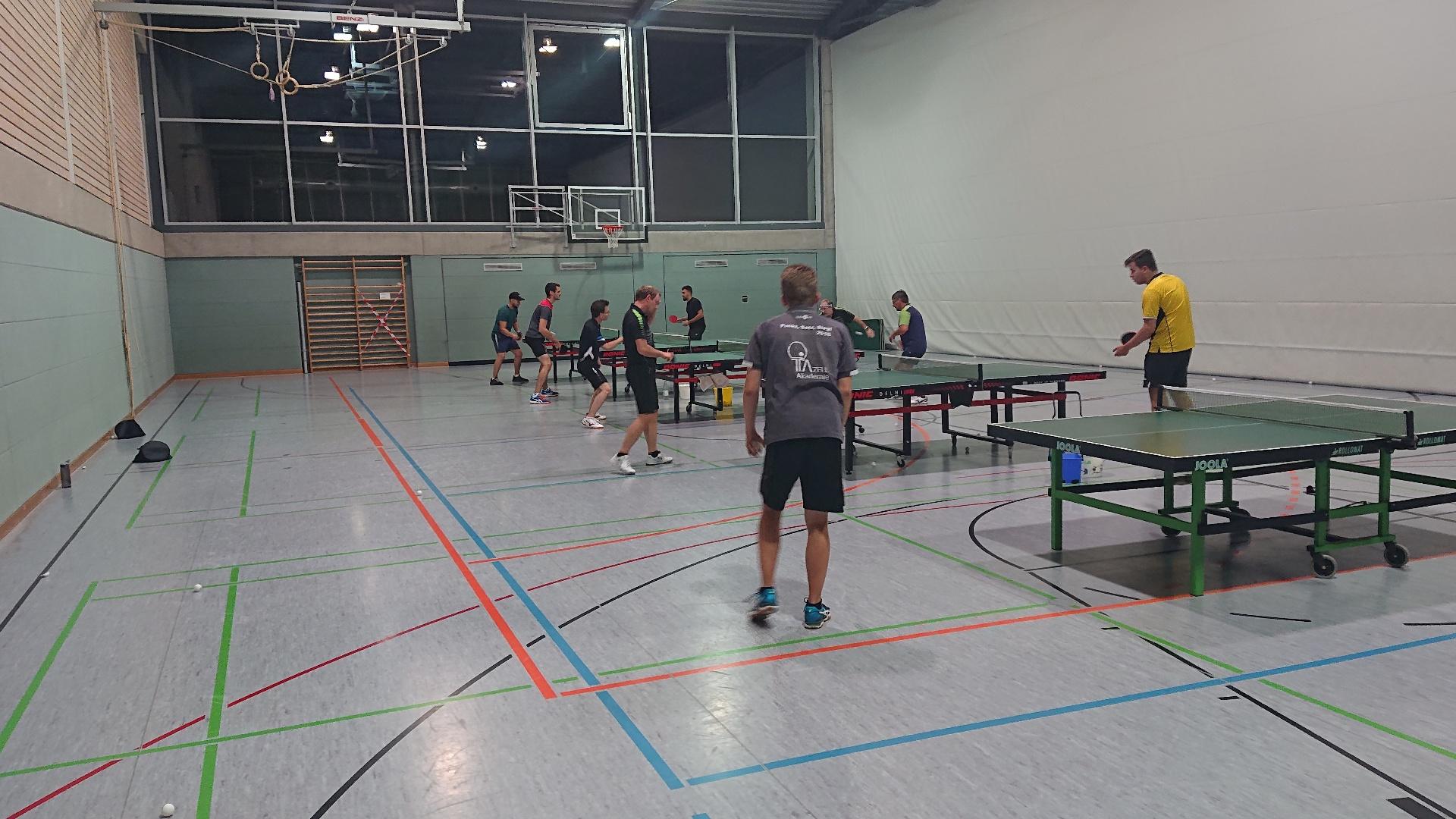 Training Herren TSV Leutenbach-Tischtennis